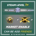Prime MGE - DMG | 1000+ Hours | Can Add Friends |Market & Faceit Available