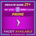 Prime SILVER 1 | 1100+ Hours | Private Rank 21+ | FACEIT READY