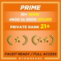 Prime GN   4500+ Hours   10+ Wins   Private Rank 21+   Faceit Available